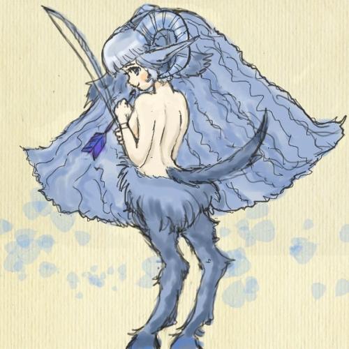 羊角牧神少女