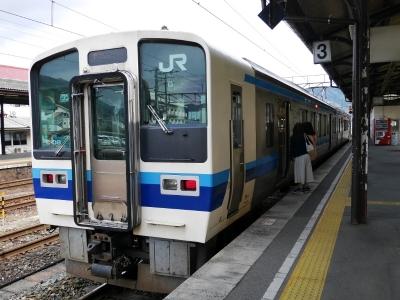 伯備線 新見駅 213系