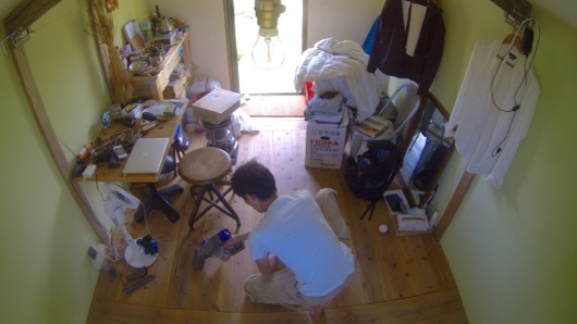 小屋の大掃除
