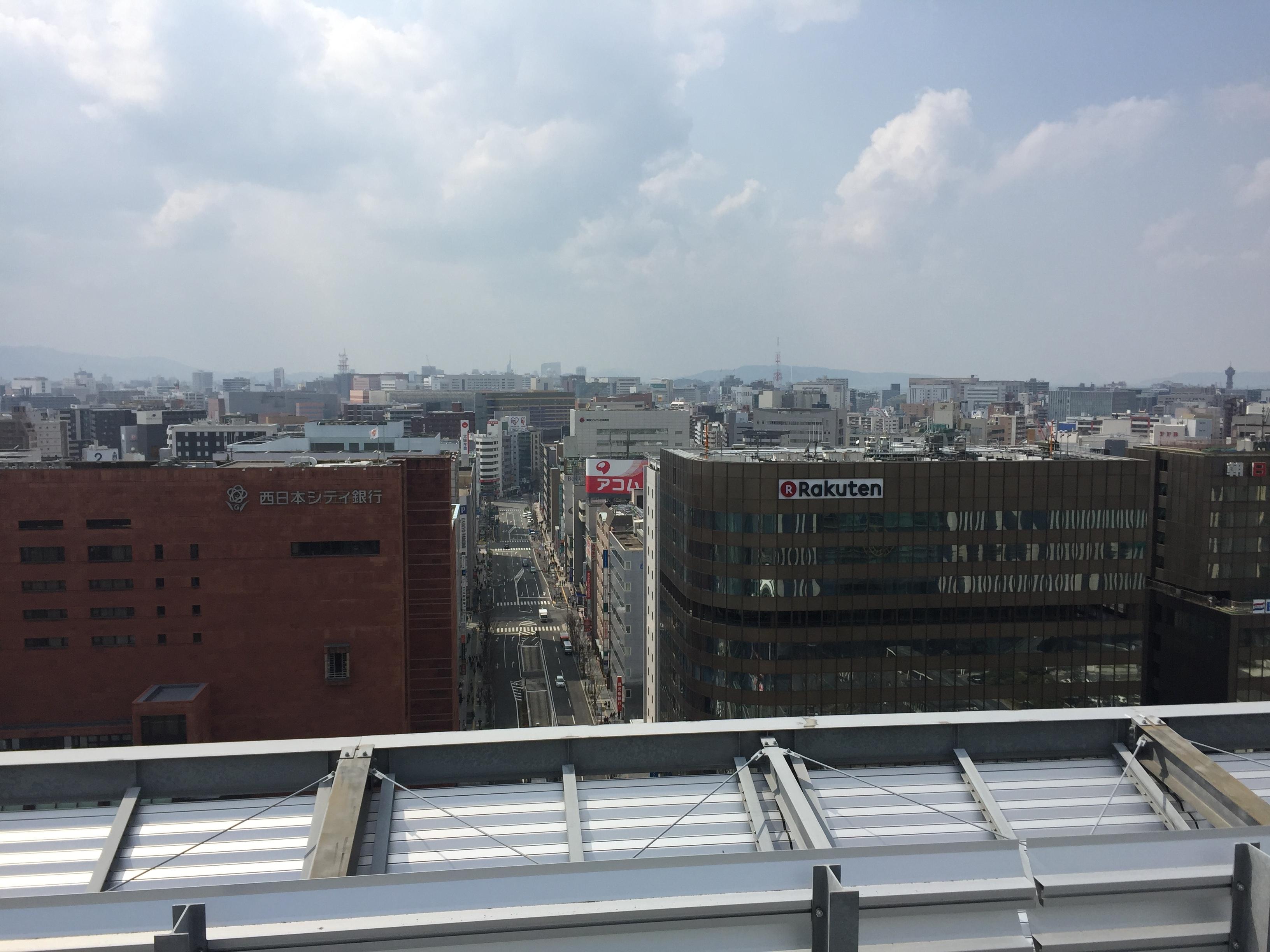 博多駅屋上からの景色