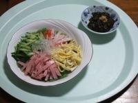 4/23 昼食 冷やし中華、ギバサ生姜ポン酢