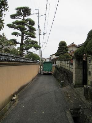 専称寺周辺の道路