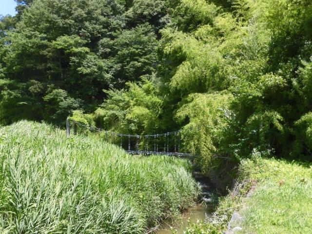 八坂小菅の水管吊橋① (7)