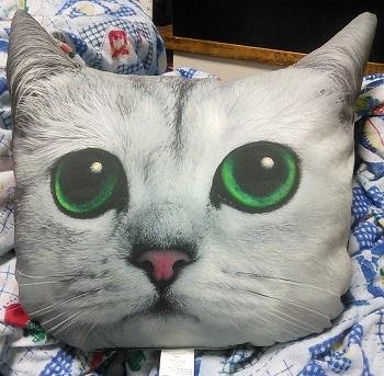 猫顔クッション