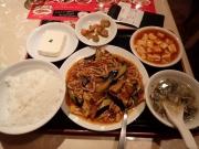 大門 南国亭 なすと豚肉の細切り炒め定食(2016/2/13)