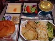 2017/2/19夕食 UL454便(コロンボー成田)にて