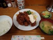 築地市場 場内 とんかつ八千代 カキフライ定食(2017/3/7)