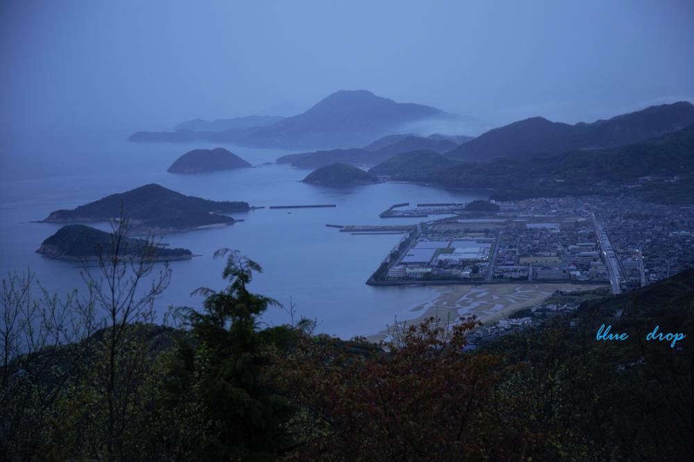 雨の荘内半島