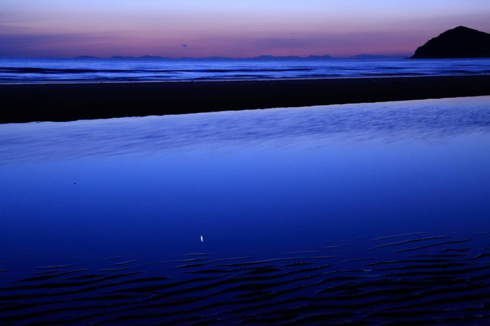 青い夕暮れ