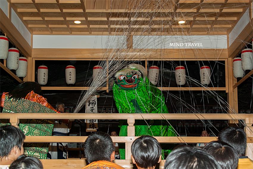 蔵王堂光福寺 久世六斎-獅子と土蜘蛛