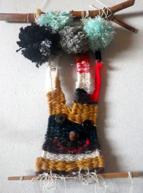 織り遊び・木