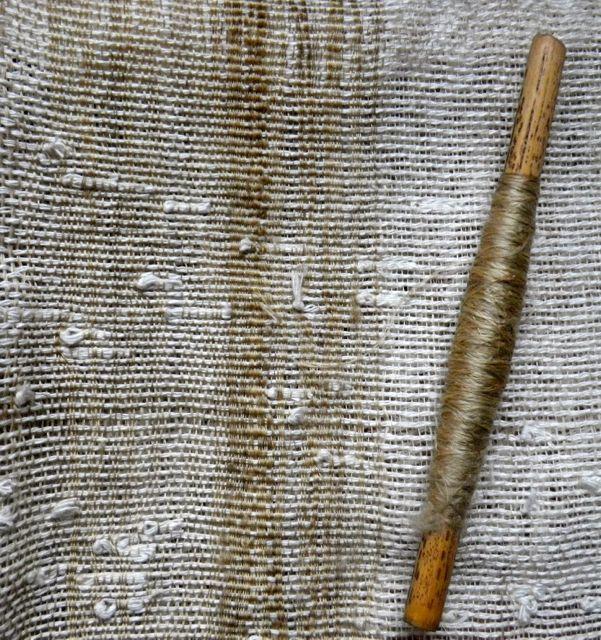 織りすね糸・絹も