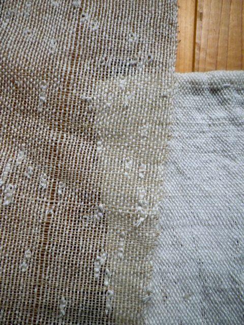 織りすね糸・糸密度の違い