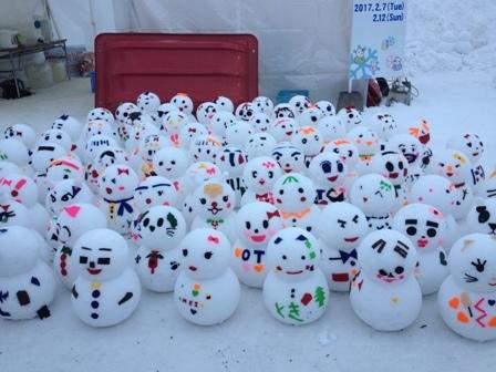 旭川冬まつり☆雪だるま