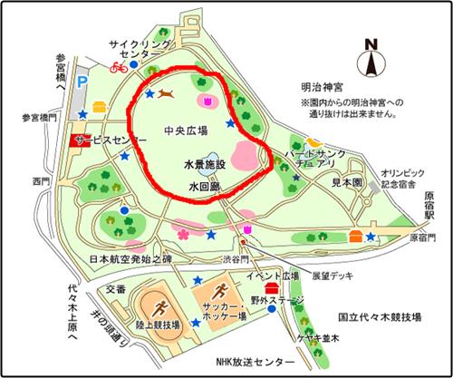 代々木公園マップ