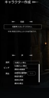 キャラ作成画面9