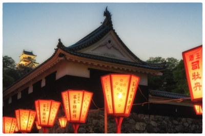 Night-fall at Kochi Castle