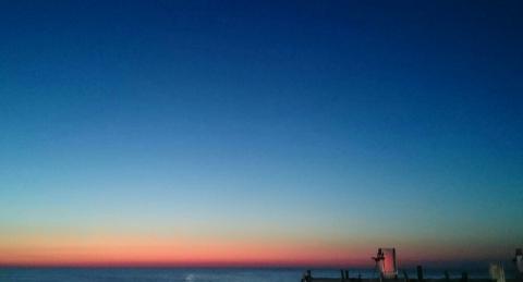 残照の日本海