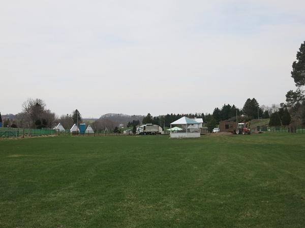 ファミリーパークゴルフ追分キャンプ場 奥からの全景