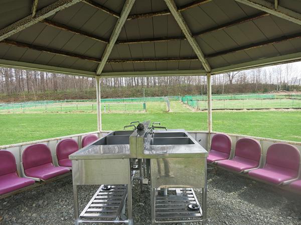 ファミリーパークゴルフ追分キャンプ場 炊事場