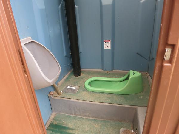 ファミリーパークゴルフ追分キャンプ場 簡易トイレ