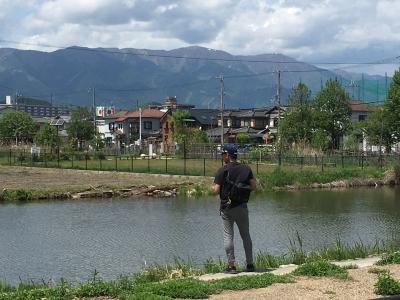 カヤ池から眺めた比良山