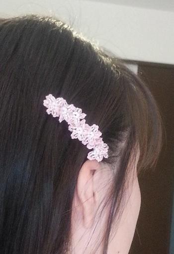 桜バレッタ