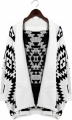 Aztec Open Knit Cardigan