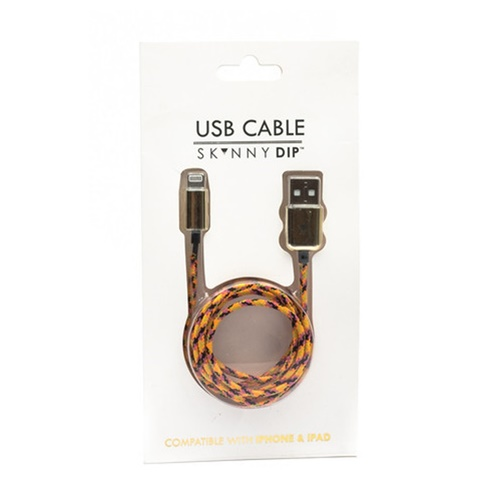 ORANGE ROPE IPHONE CABLE11