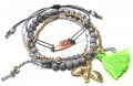 A312 Deluxe Birdy Gold Set of 4 bracelet multi 2 (2)