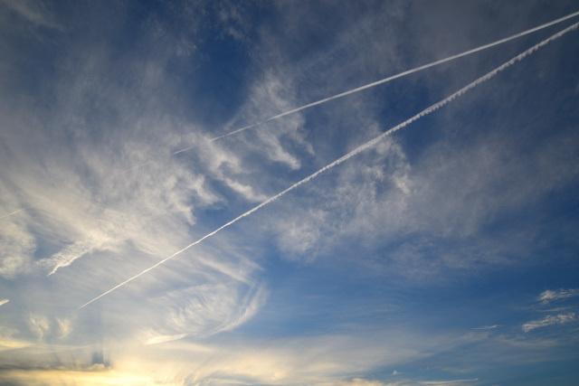 飛行機雲(1)