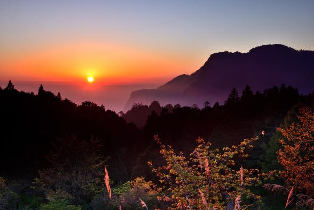 阿里山の夕日(2)