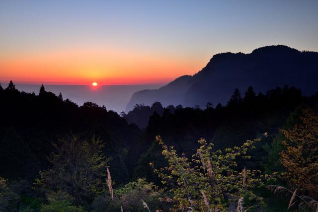阿里山の夕日(1)
