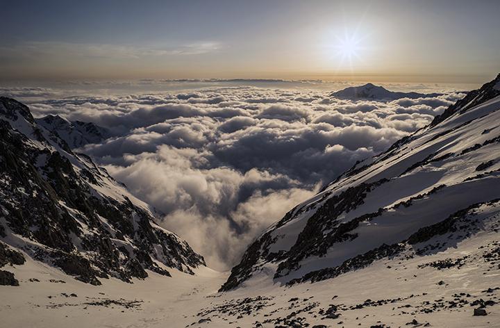 170422 雲海と夕陽