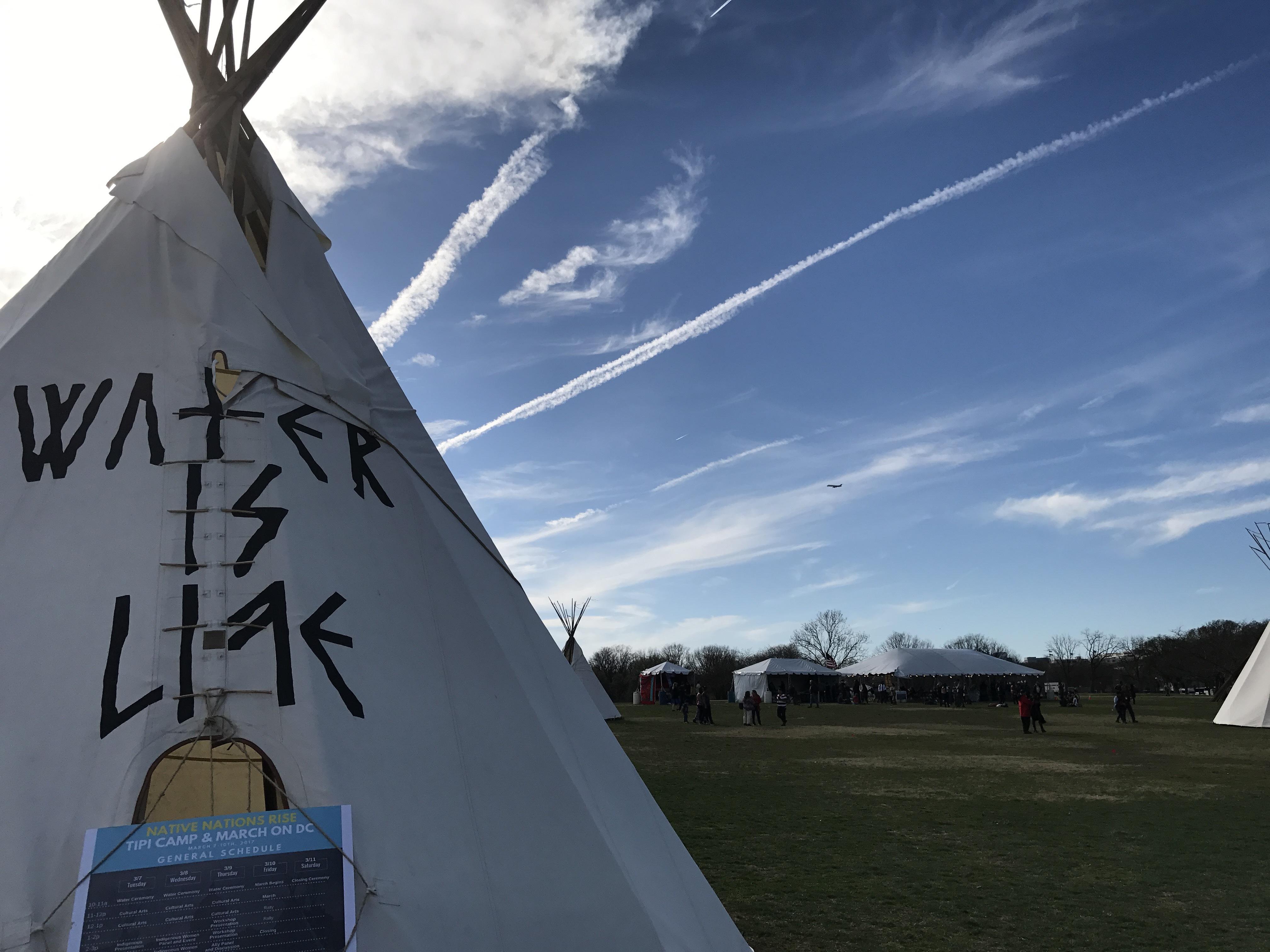 先住民のイベントがあるらしく、ナショナルパークにはこういうテントがたくさんあった