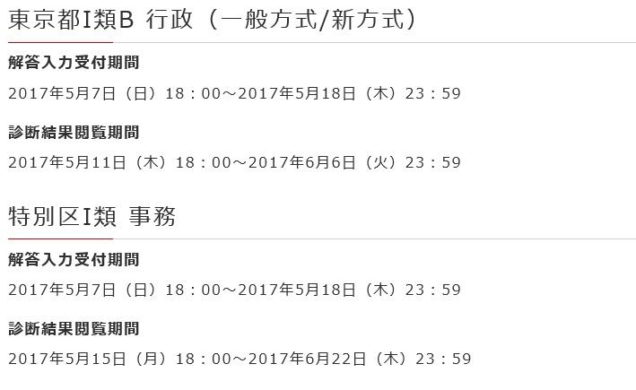 本試験無料成績診断(都庁ⅠB・特別区)