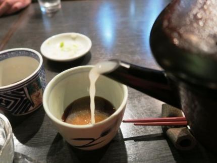 17-4-17夜 蕎麦湯