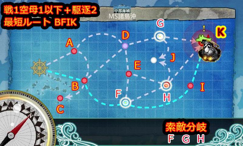 艦これ,攻略,6-2,MAP,自作