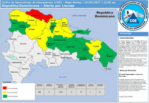 weather-alerts-dominican-republic-25-march-2017ドミニカ共和国も洪水