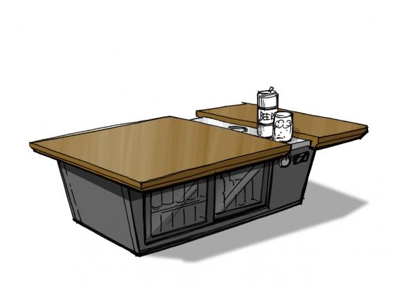 テーブル冷蔵庫