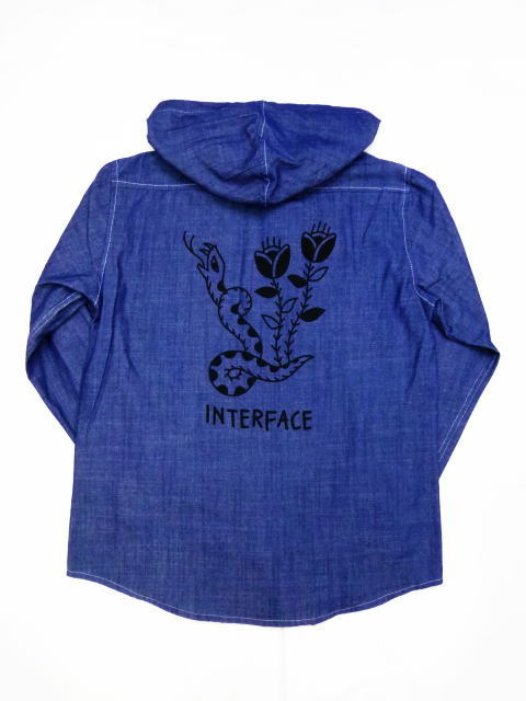 INTERFACE SNAKE HOODED CHAMBRAY SH