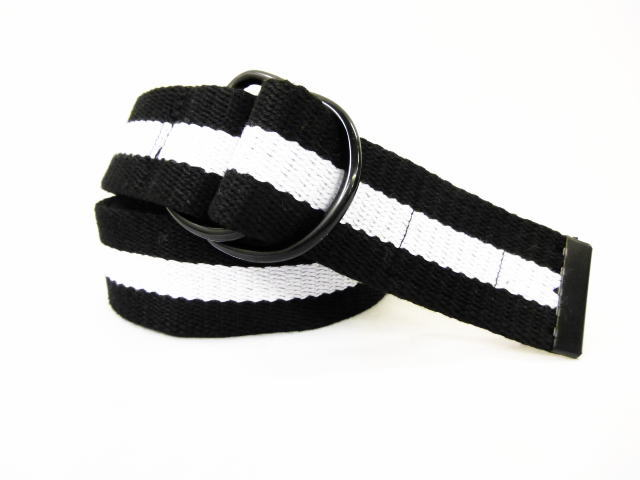 INTERFACE COTTON RING BELT WHT×BLK