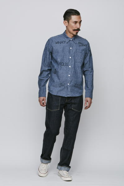 SOFTMACHINE POISON CHAMBRAY SMITH PANTS