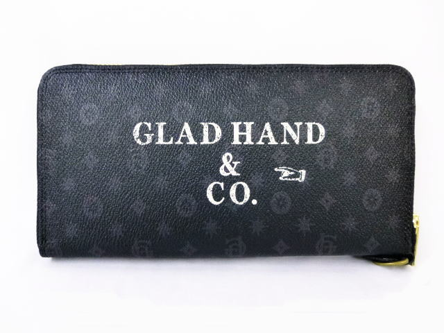 GLAD HAND×PORTER GH-BELONGINGS ZIP WALLET FAMILY CREST SP #002