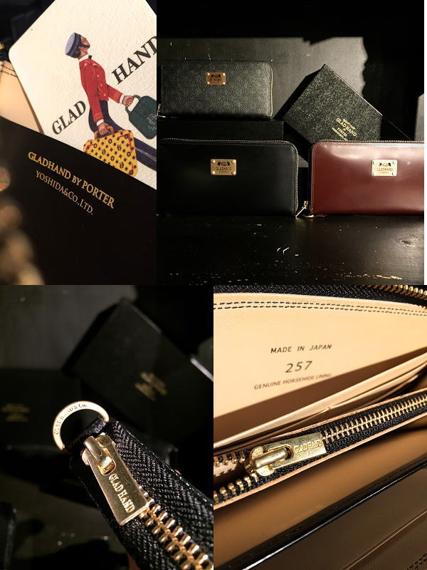 GLAD HAND×PORTER GH-BELONGINGS ZIP WALLET
