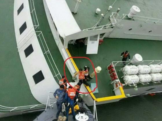 セウォル号沈没事件!真っ先に船長が脱出逃亡