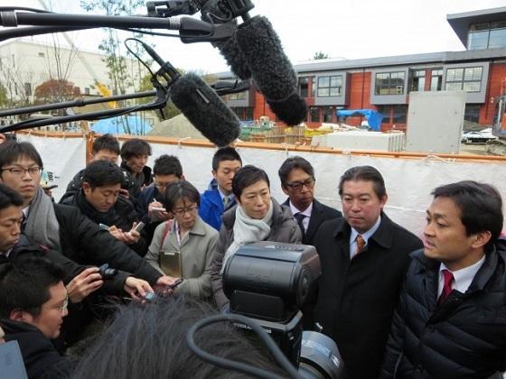 【大阪】玉木議員ら民進党調査団、豊中市の不可解な国有地売却の現場を視察