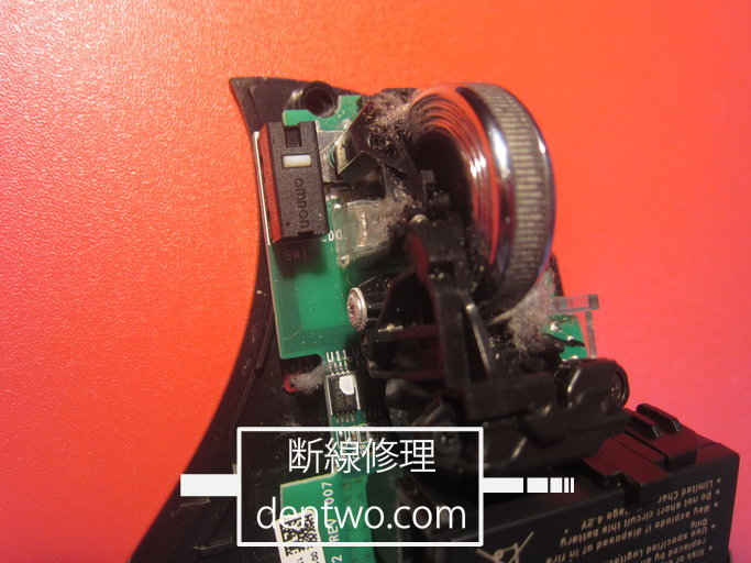 Logicool製マウス・MX-Rの分解画像です。チャタリングの修理、バッテリーの新品交換を実施しました。170227IMG_3689.jpg