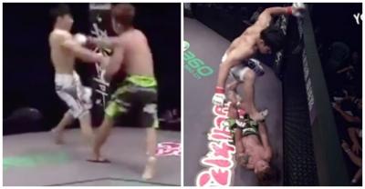 【Fight!】格闘技・・・・フィニッシュは顔面踏みつけ!