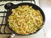 キャベツと合い挽き肉の焼飯20